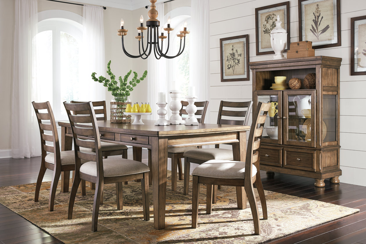 Flynnter 8 Piece Dining Room Set,Signature Design By Ashley