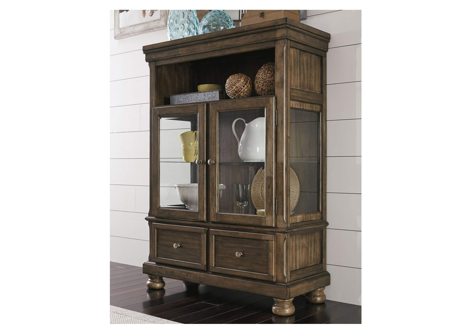 Flynnter Medium Brown Curio,Signature Design By Ashley