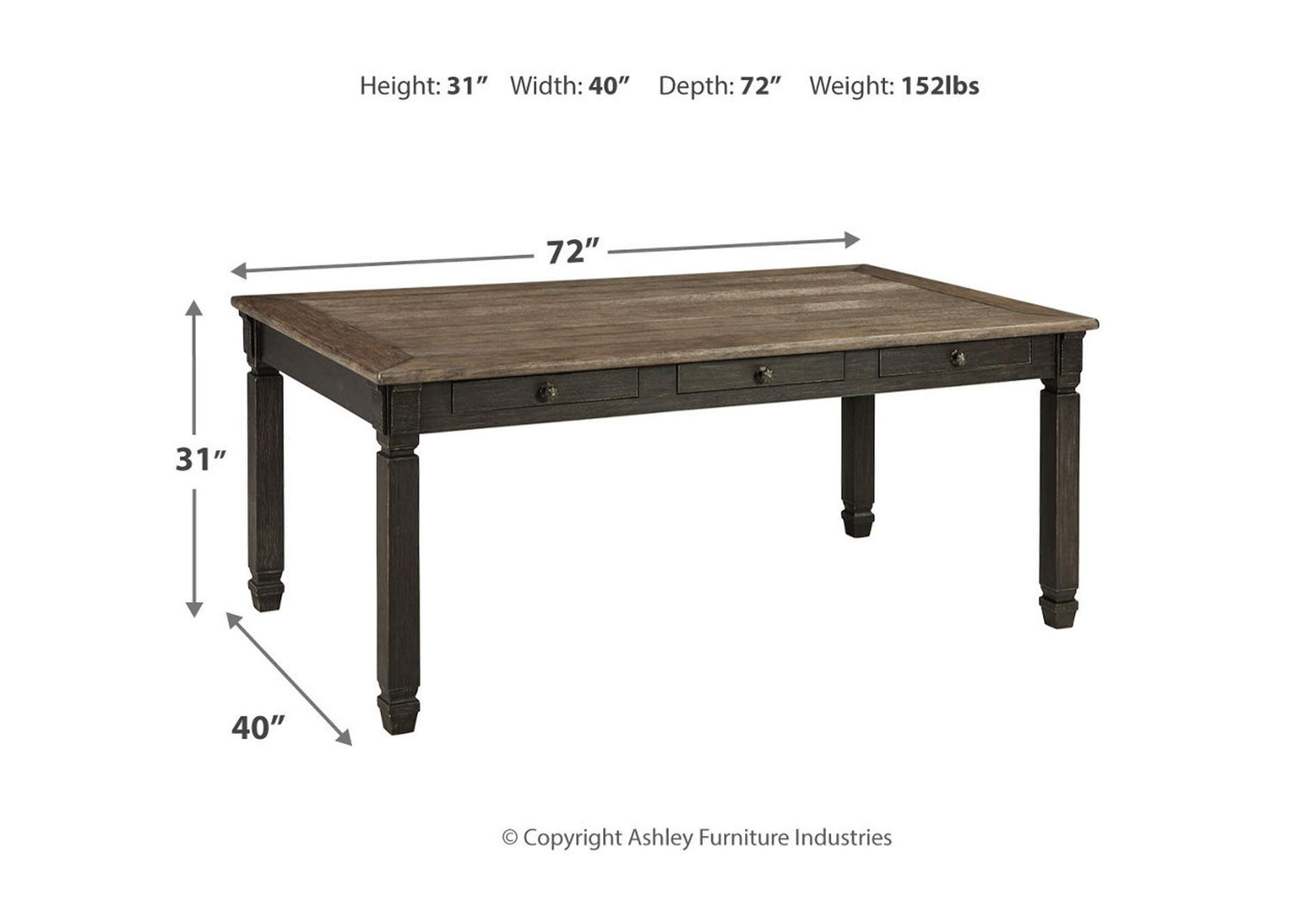 Tyler Creek Black/Gray Dining Table,Signature Design By Ashley