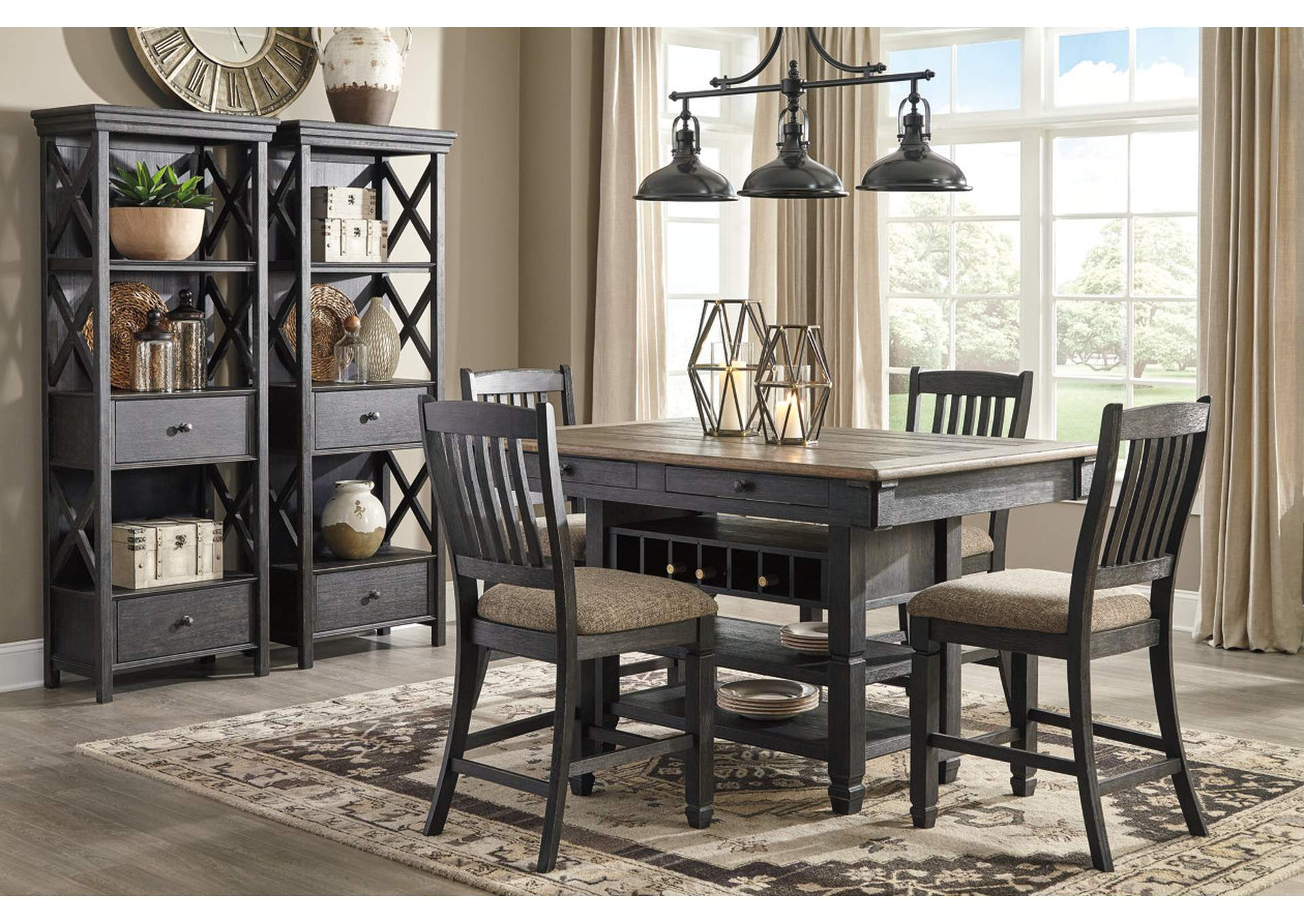 Tyler Creek Black/Grayish Brown Display Cabinet,Signature Design By Ashley