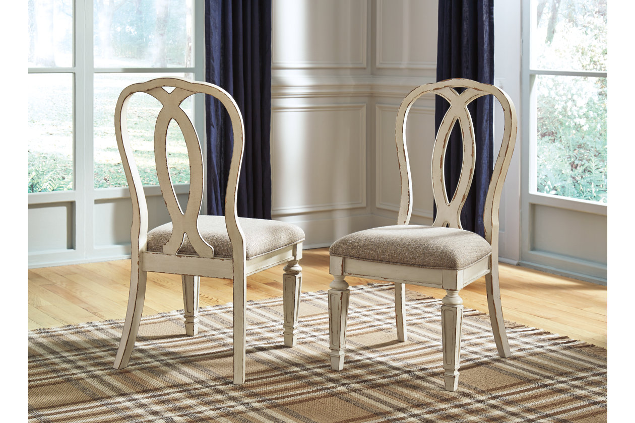 Realyn Chipped White Dining Upholstery Side Chair (Set of 2),Signature Design By Ashley