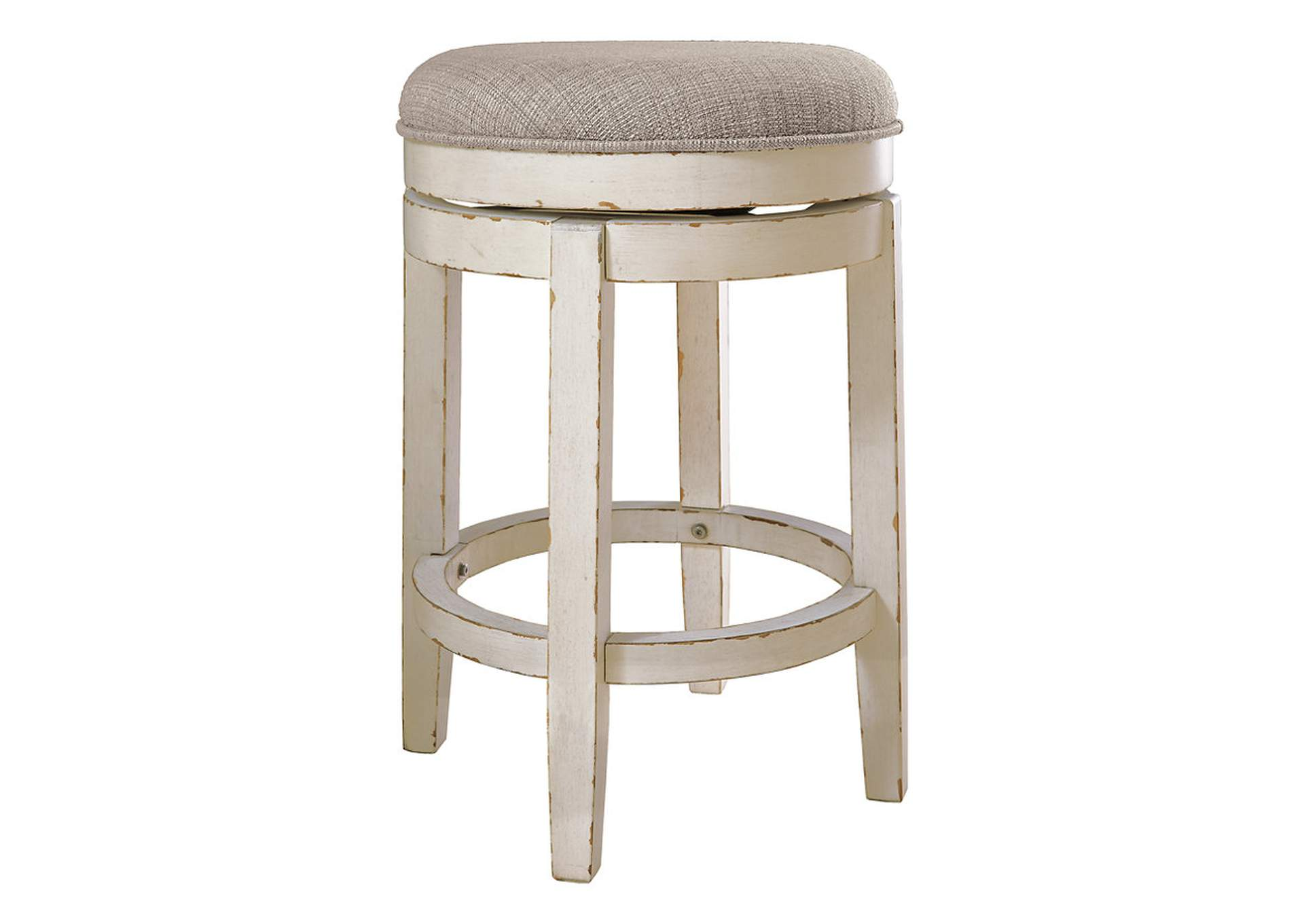 Realyn Chipped White Bar Stool,Signature Design By Ashley