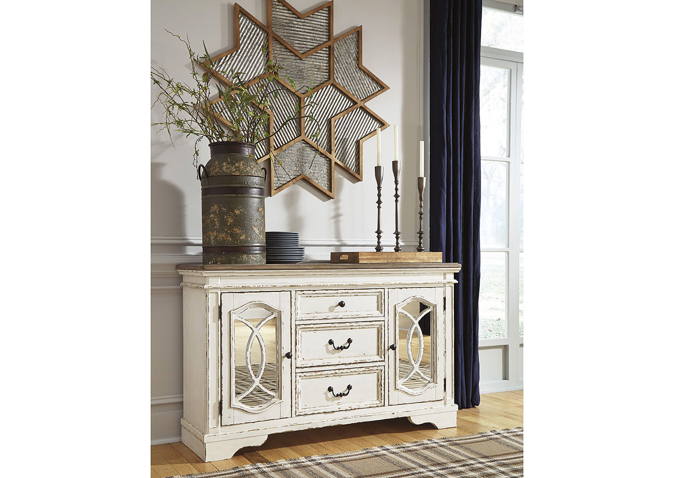 Realyn Chipped White Dining Room Server,Signature Design By Ashley