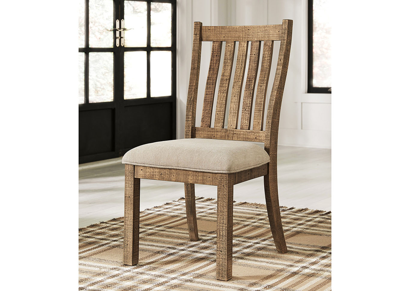 Grindleburg Light Brown Upholstered Side Chair (Set of 2),Signature Design By Ashley