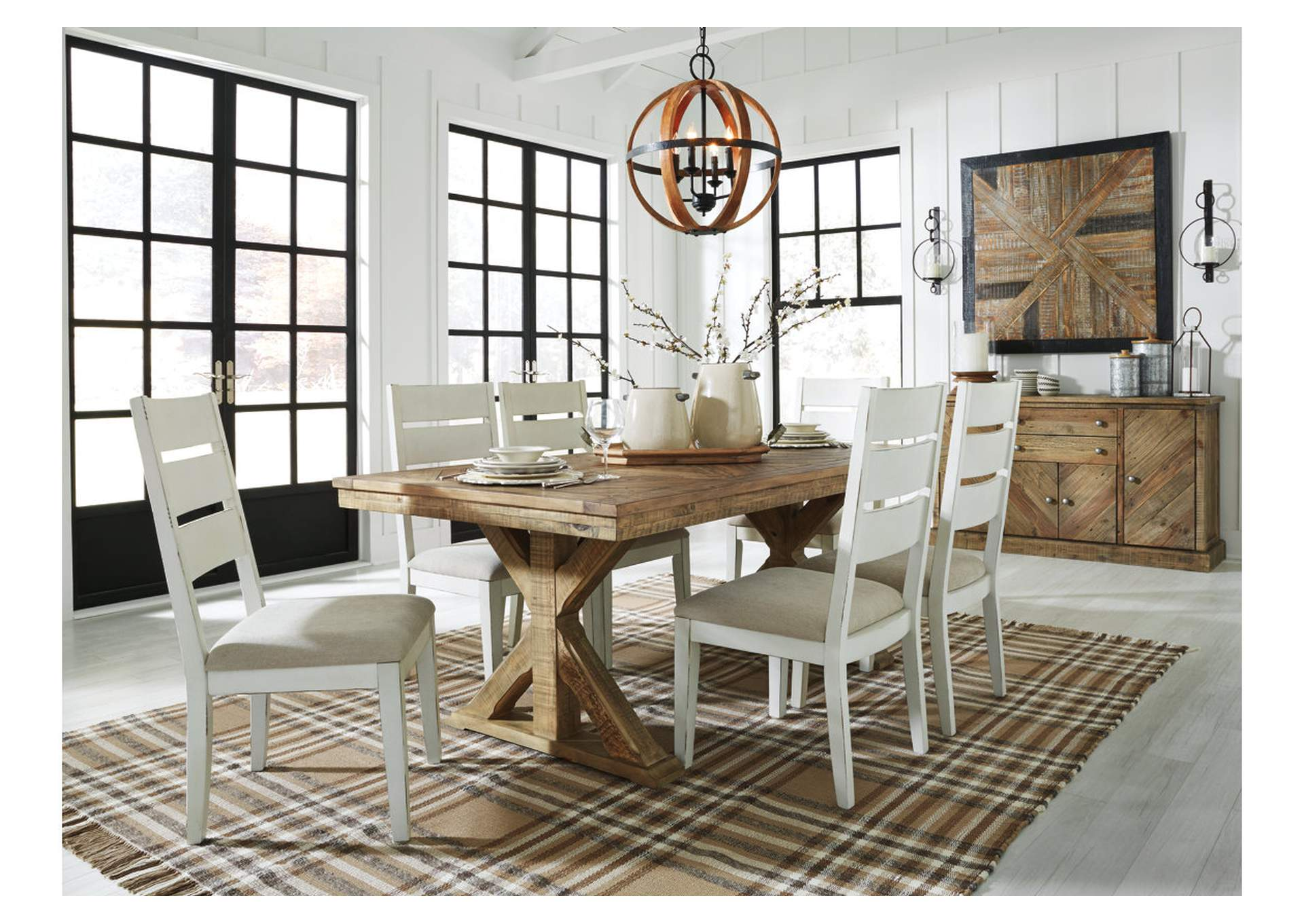 Woodstock Furniture Value Center Grindleburg Light Brown Rectangular