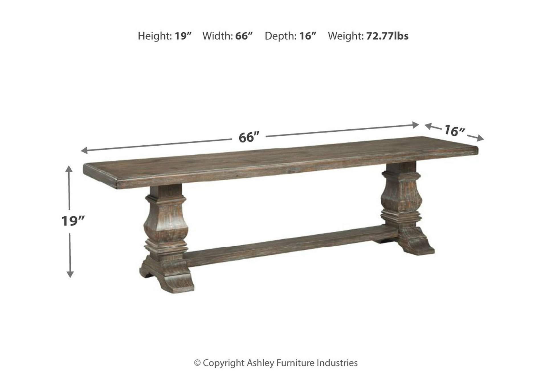 Wyndahl Brown Dining Bench,Signature Design By Ashley