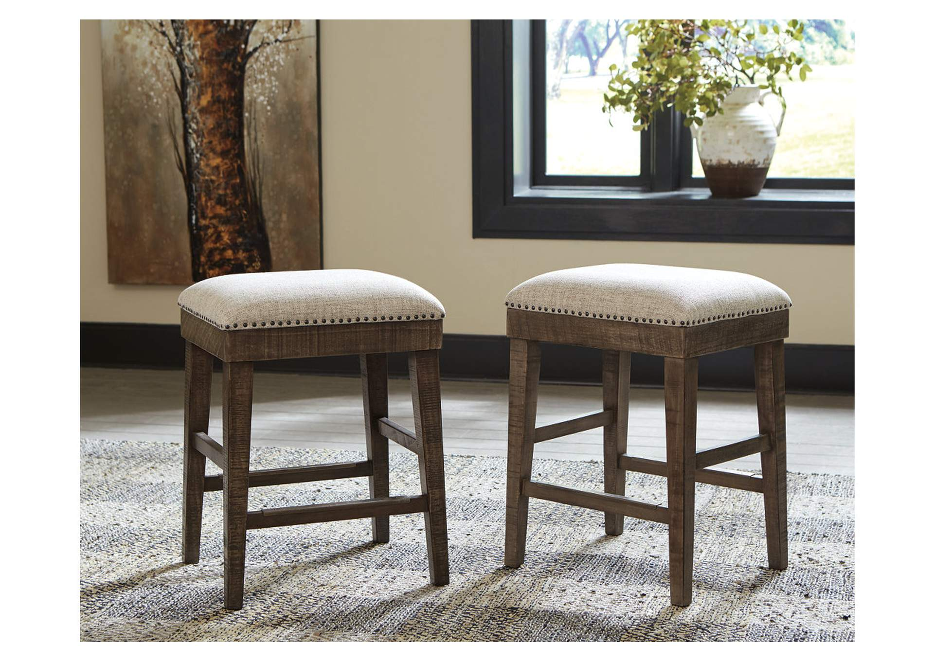 Wyndahl Brown Bar Stool (Set of 2),Signature Design By Ashley