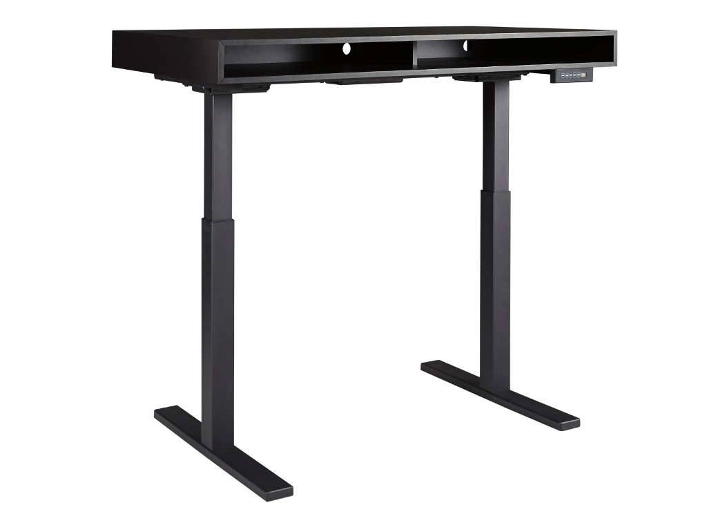 Laney Black Adjustable Height Desk,Signature Design By Ashley