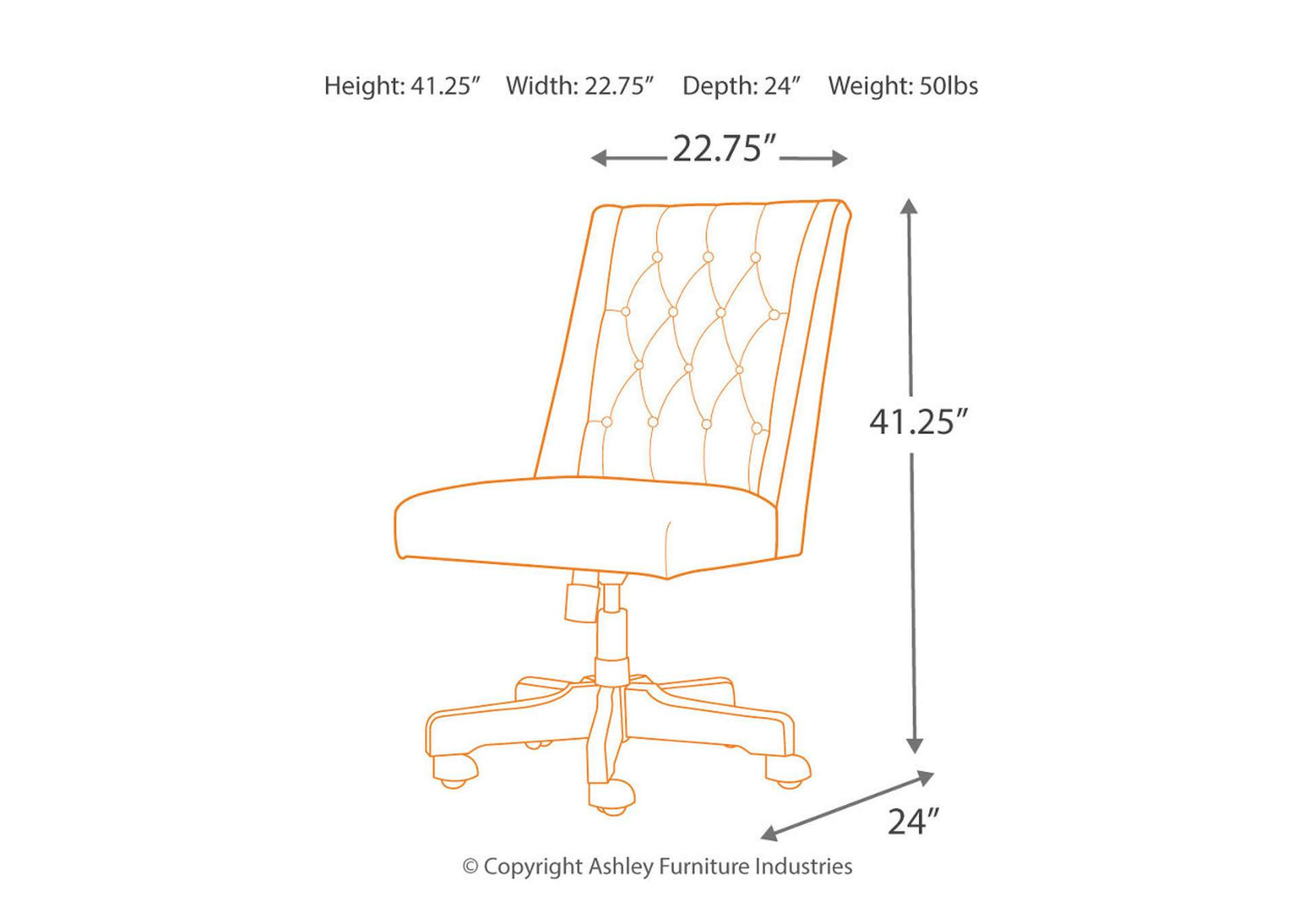 Office Chair Program Graphite Home Office Swivel Desk Chair,Signature Design By Ashley