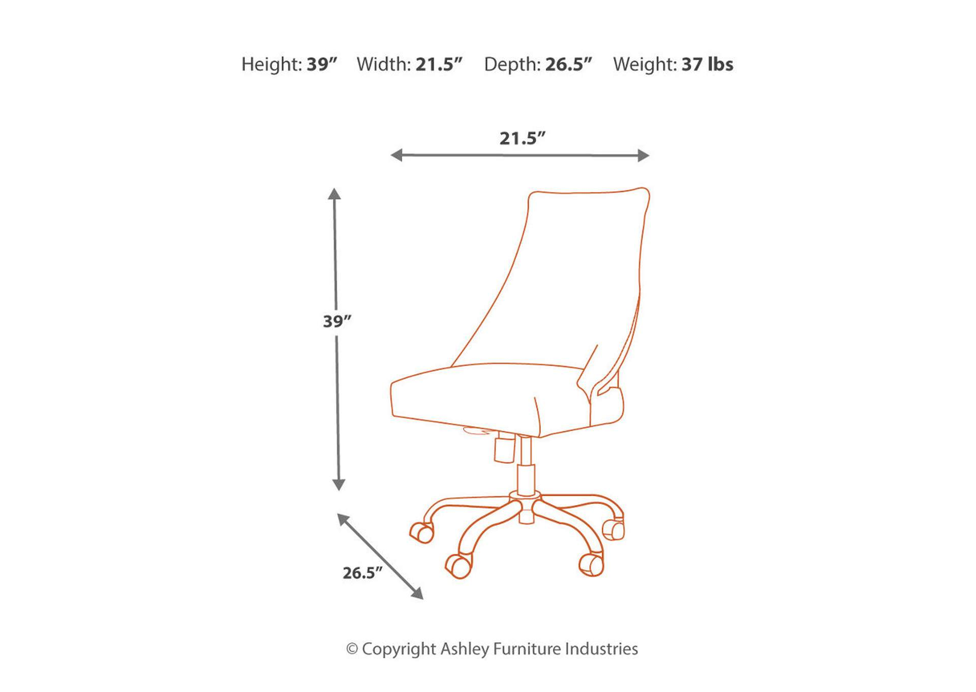 Office Chair Program Brown Home Office Swivel Desk Chair,Signature Design By Ashley
