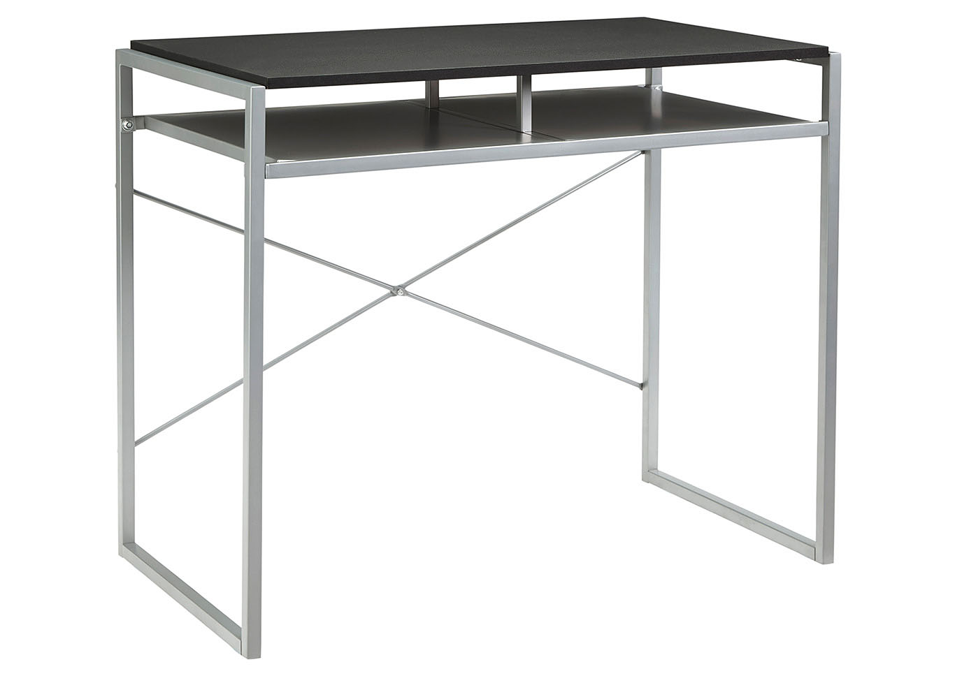 Bertmond Black/Silver Metal Home Office Desk,Signature Design By Ashley