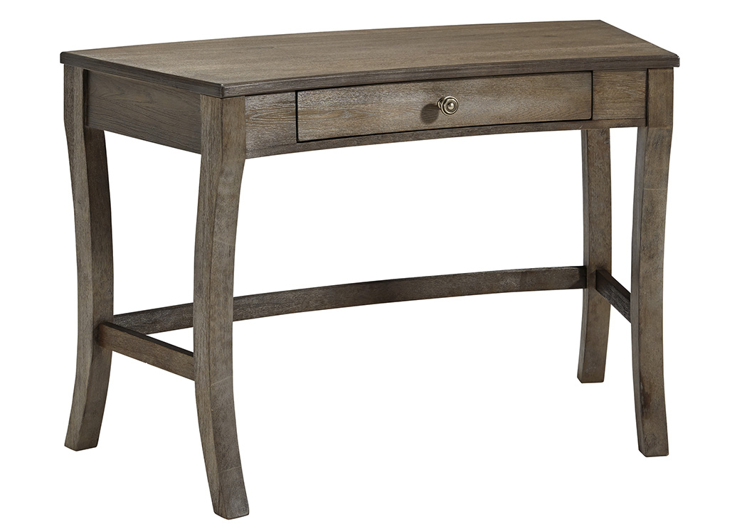 Vintelli Grayish Brown Home Office Desk,Signature Design By Ashley