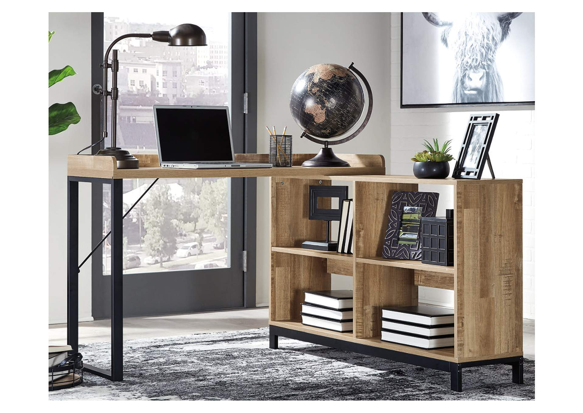 "Gerdanet Brown 47"" Home Office Desk,Signature Design By Ashley"