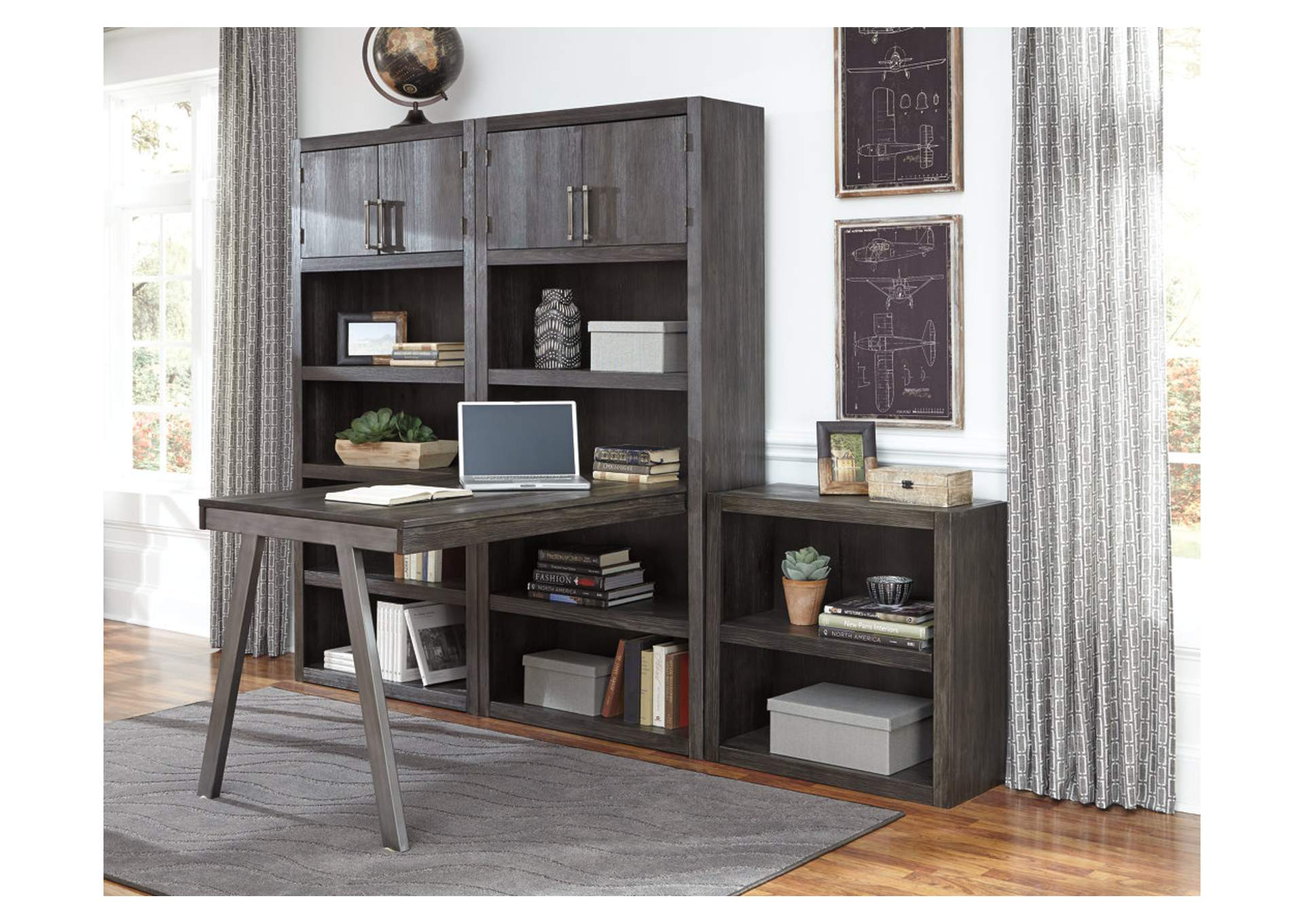Raventown Grayish Brown Large Bookcase,Signature Design By Ashley