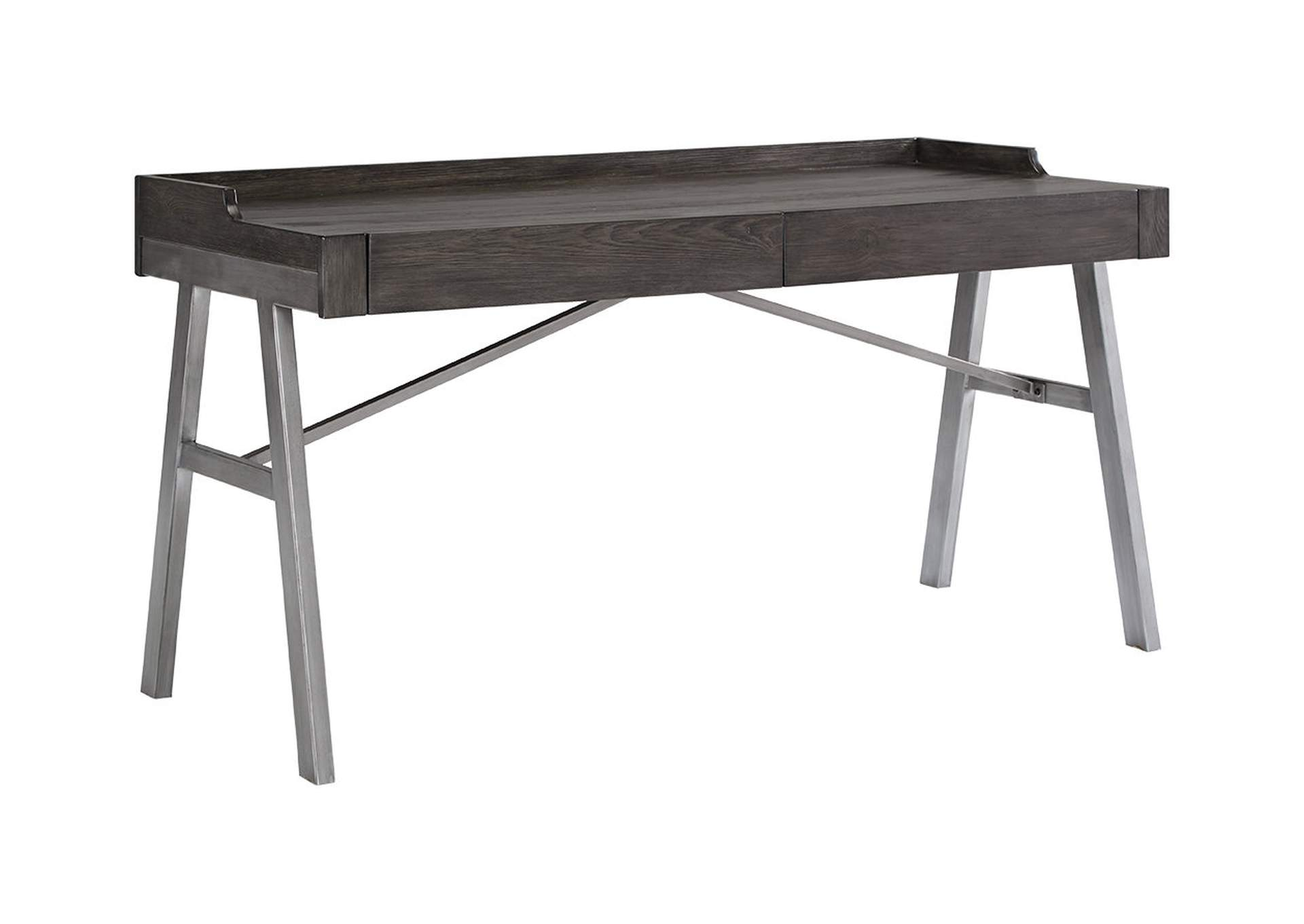 Raventown Grayish Brown Home Office Desk,Signature Design By Ashley