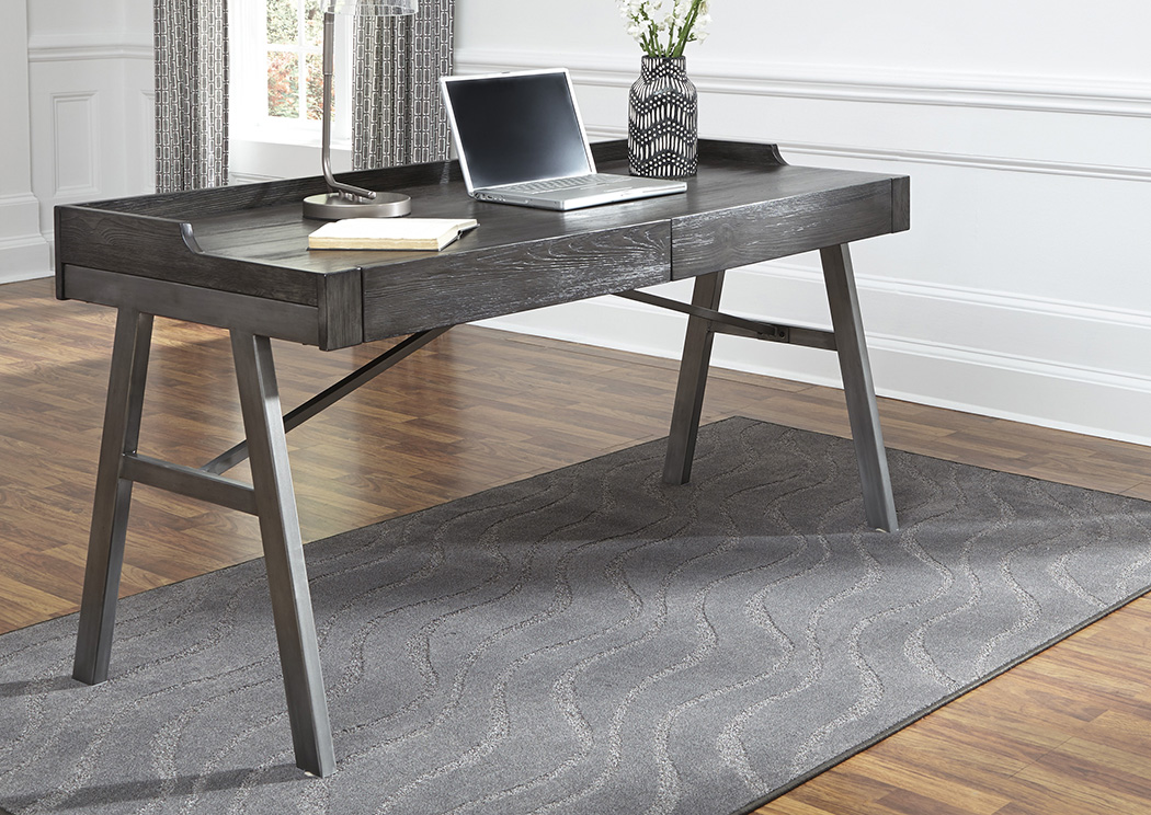 Raventown Grayish Brown Home Office Desk,48 Hour Quick Ship