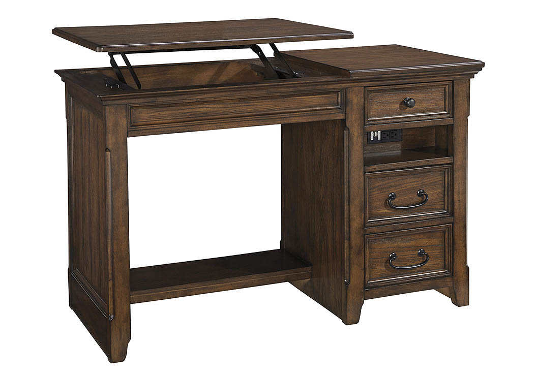 Woodboro Brown Home Office Lift Top Desk,ABF Signature Design by Ashley