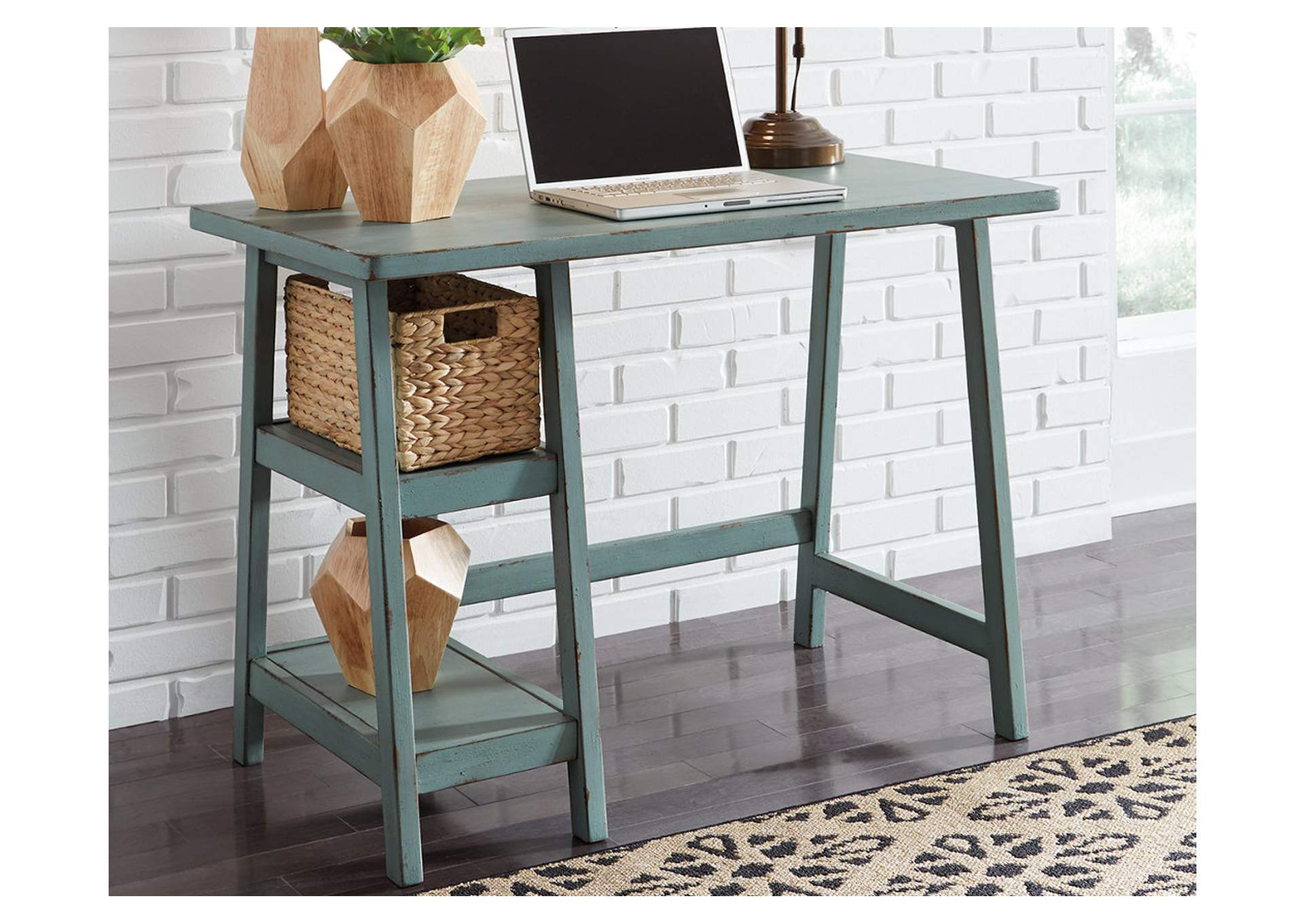 Mirimyn Teal Home Office Small Desk,Signature Design By Ashley