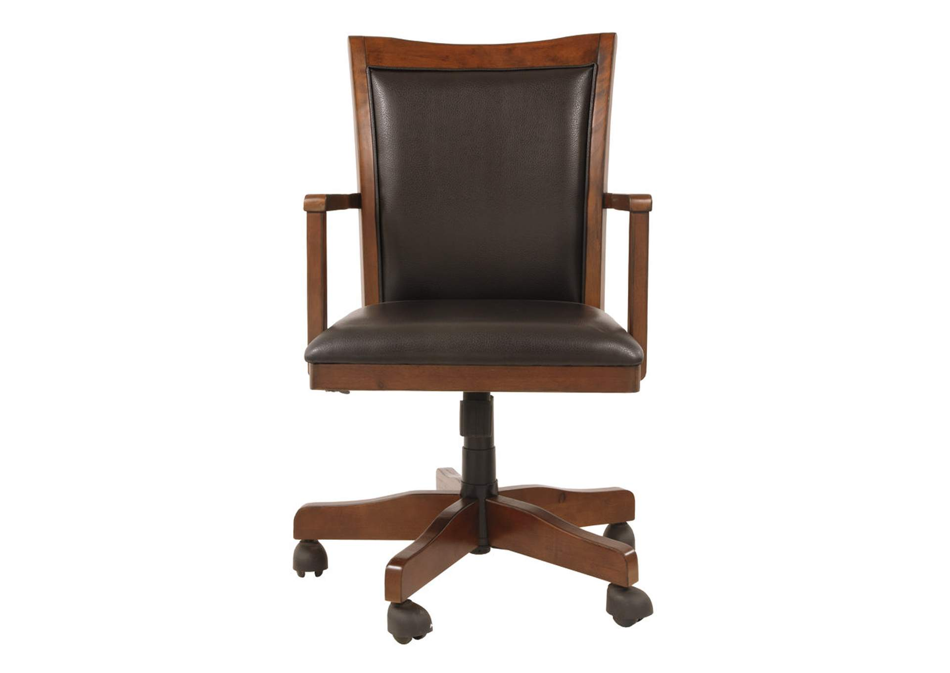 Hamlyn Medium Brown Swivel Desk Chair,Signature Design By Ashley
