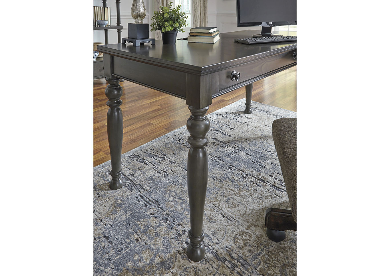 Devensted Dark Gray Home Office Desk,Signature Design By Ashley