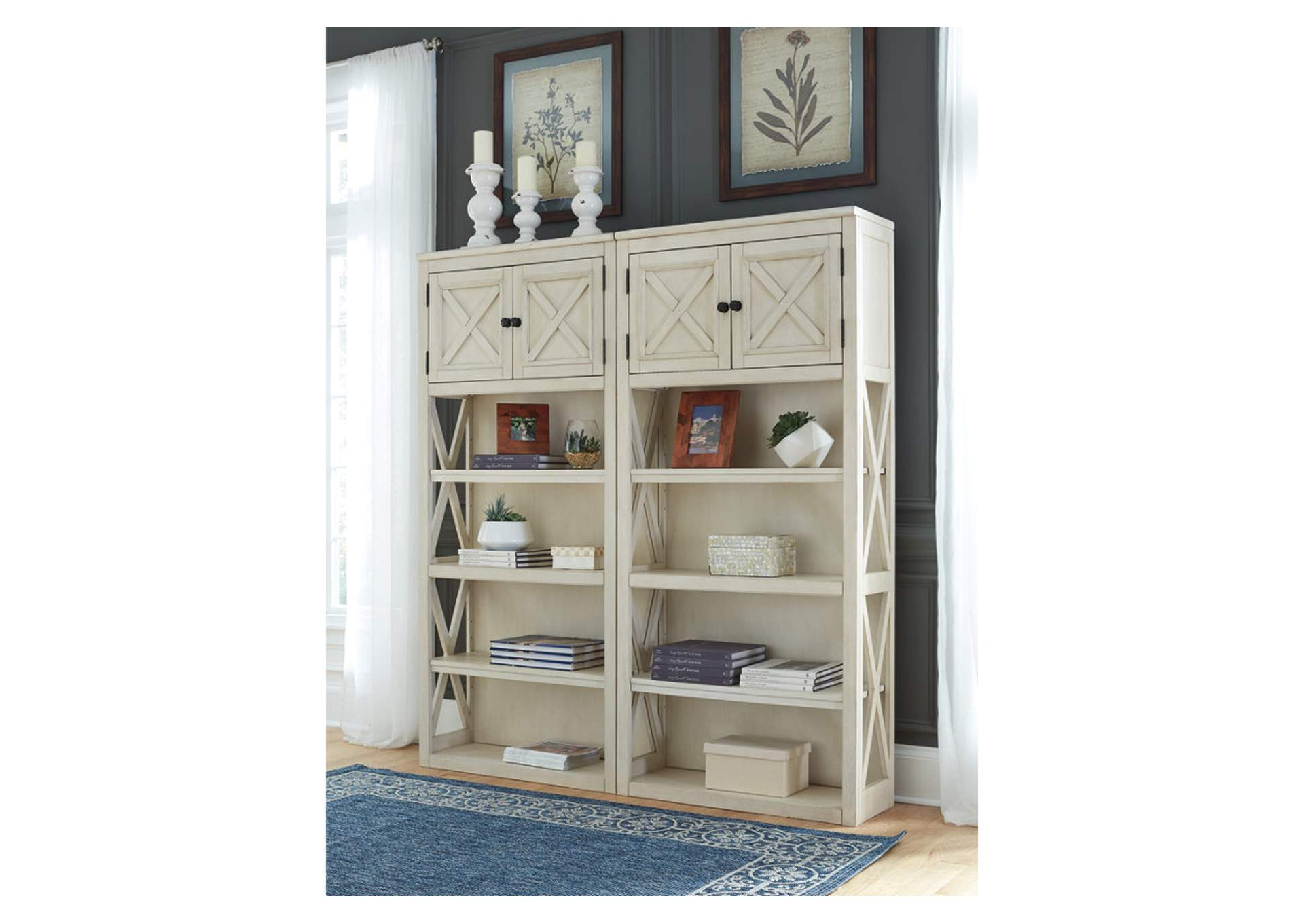 Bolanburg Two-Tone Large Bookcase,Signature Design By Ashley