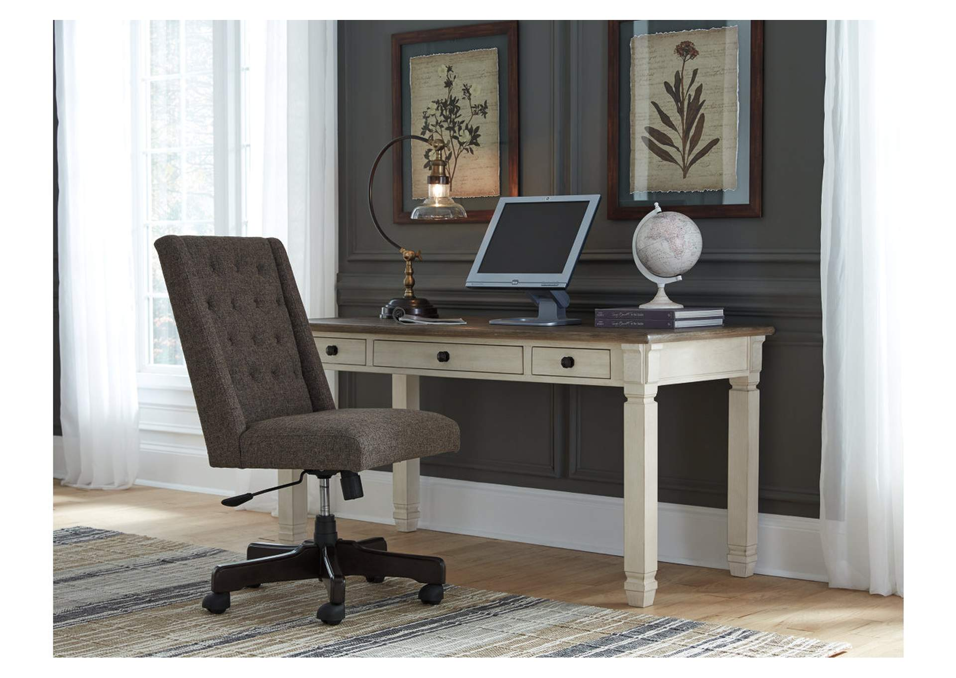 Bolanburg Two-Tone Home Office Desk,Signature Design By Ashley
