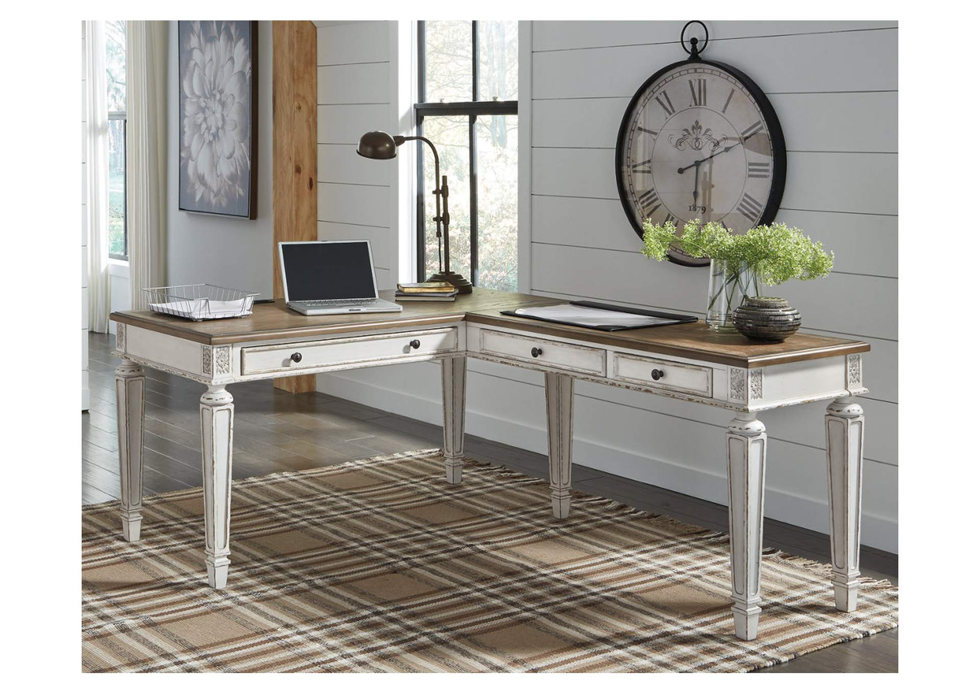 Realyn Brown Home Office Desk w/Return,Signature Design By Ashley