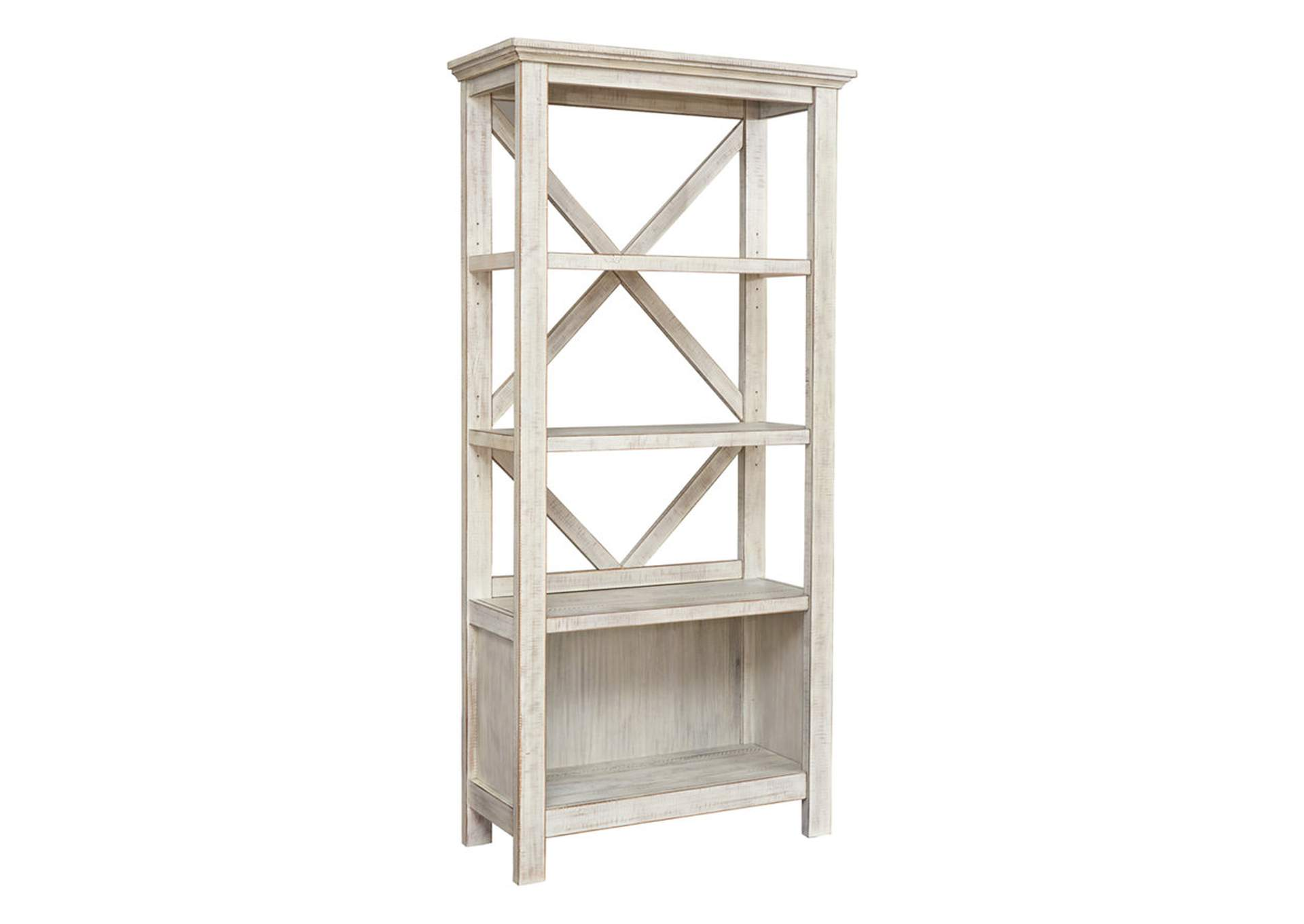 "Carynhurst Whitewash 75"" Bookcase,Signature Design By Ashley"