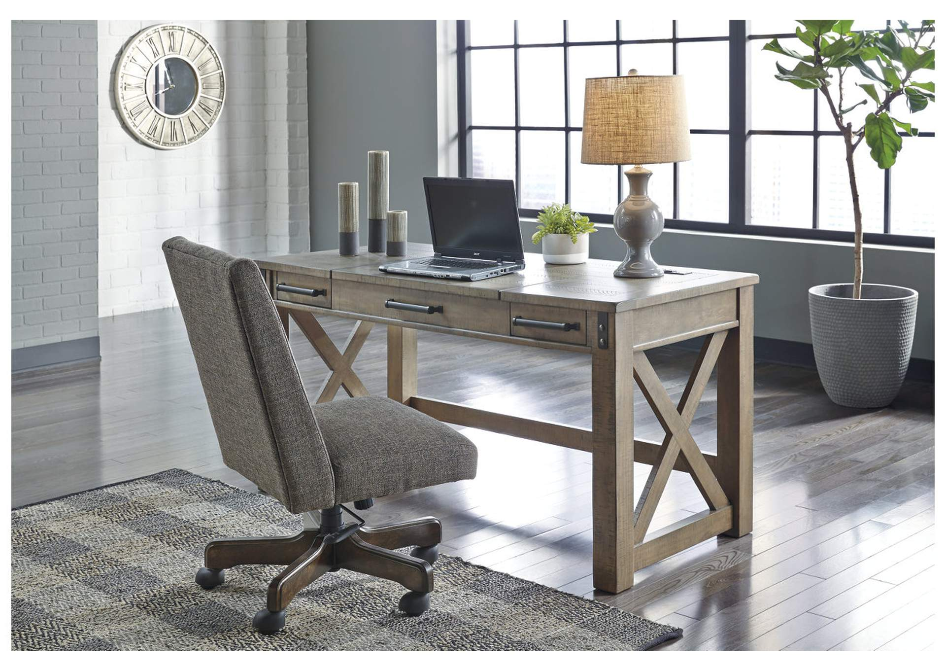 Aldwin Gray Home Office Desk w/Lift Top,Signature Design By Ashley
