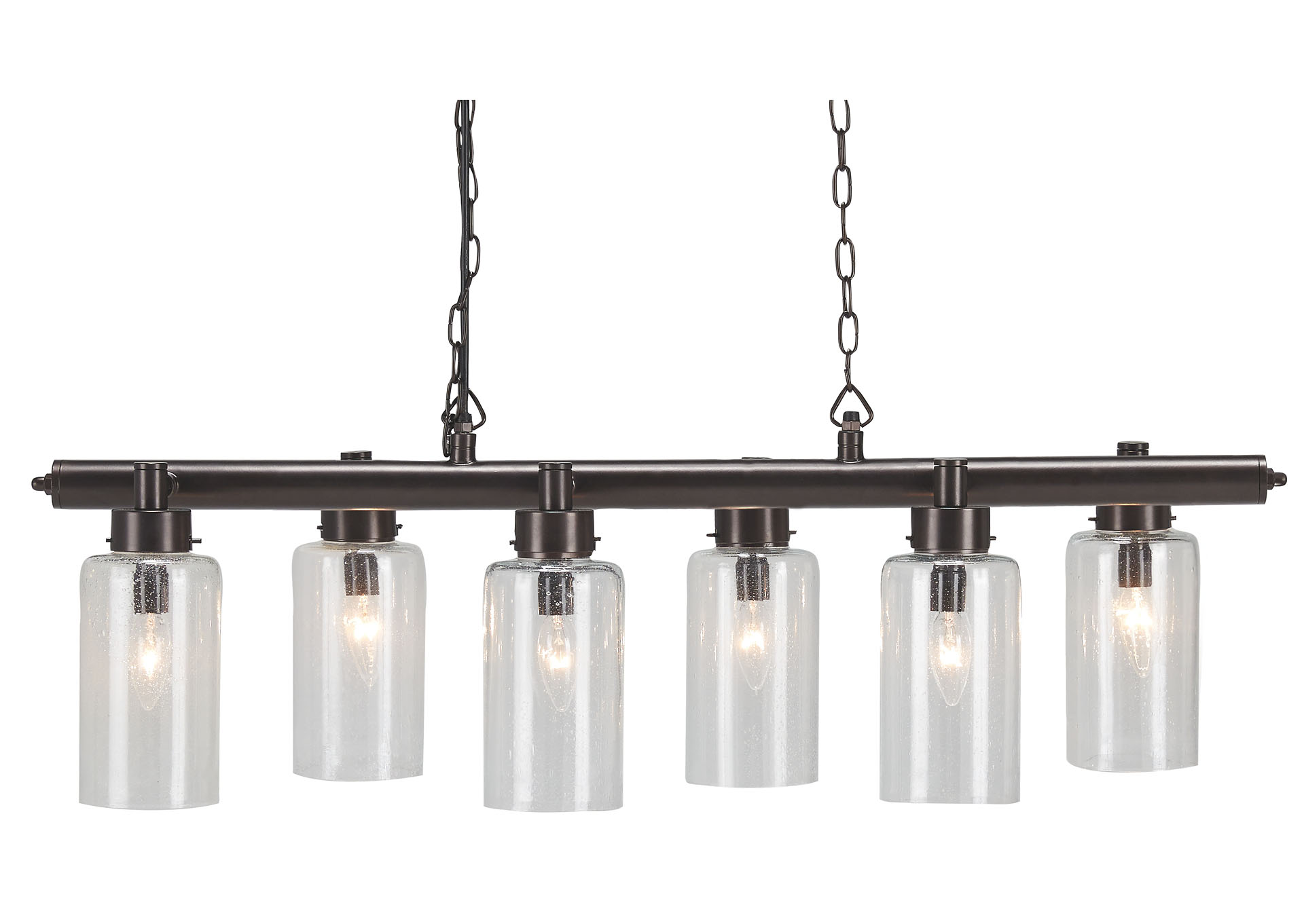 Felipe Clear/Bronze Finish Metal Pendant Light,Signature Design By Ashley