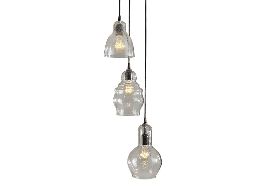 Adelphia Clear Glass Pendant Light,Signature Design By Ashley