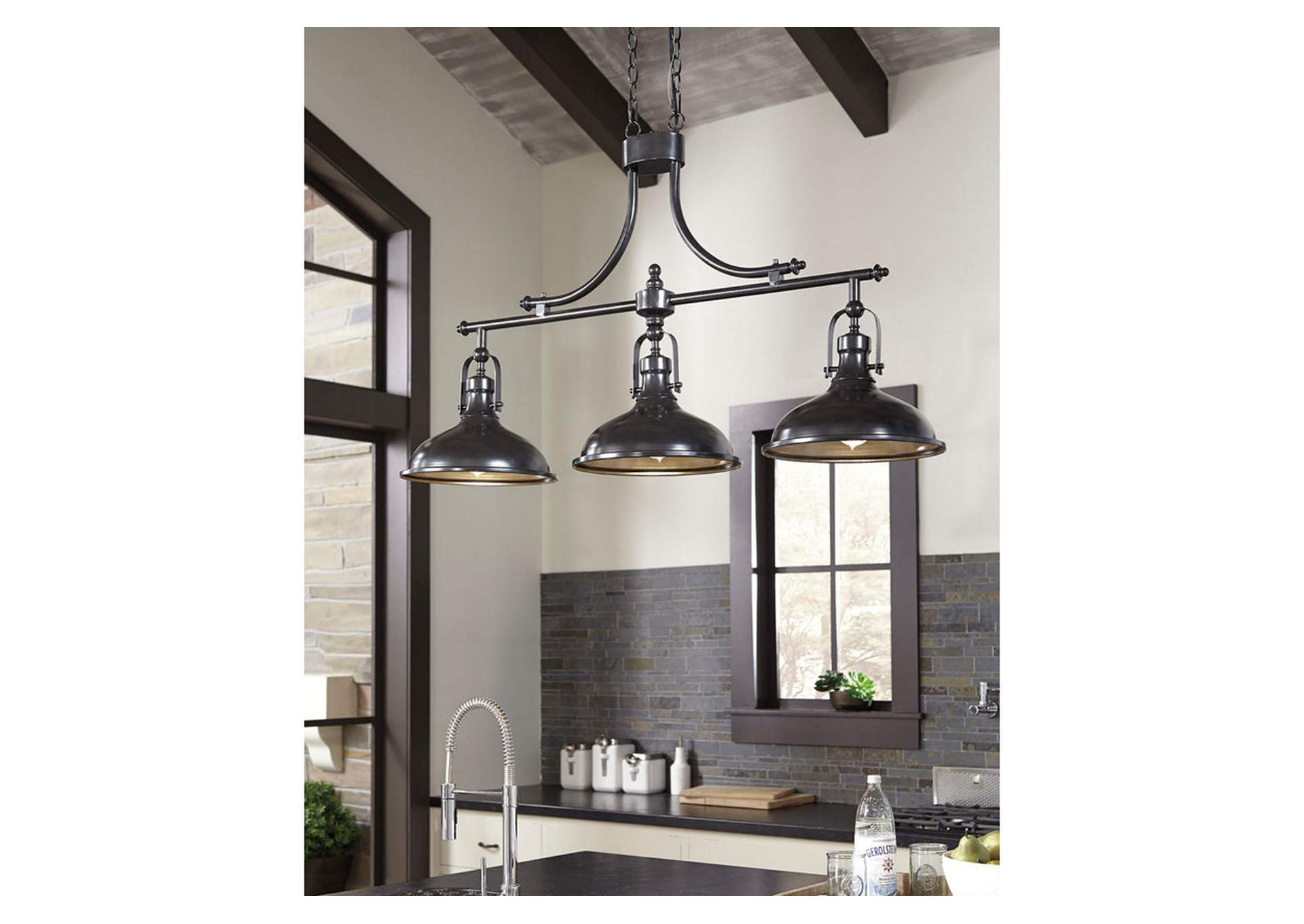 Joella Bronze Finish Metal Pendant Light,Signature Design By Ashley