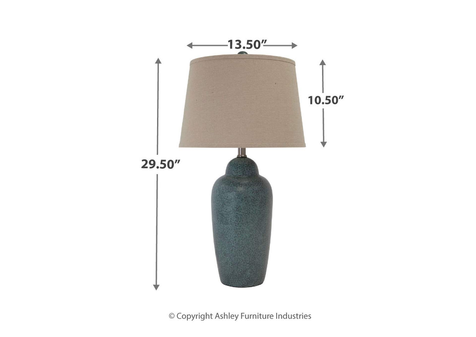 Green Ceramic Table Lamp,Signature Design By Ashley