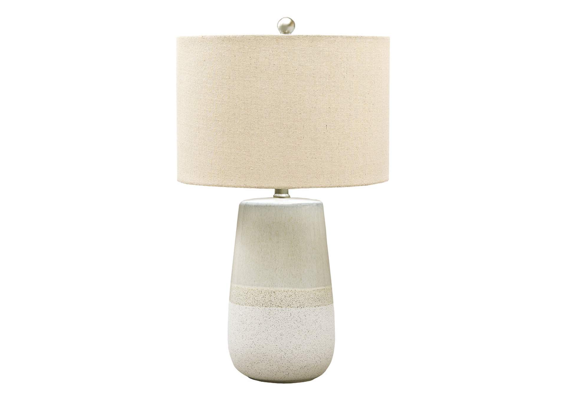 Shavon Beige/White Table Lamp,Signature Design By Ashley