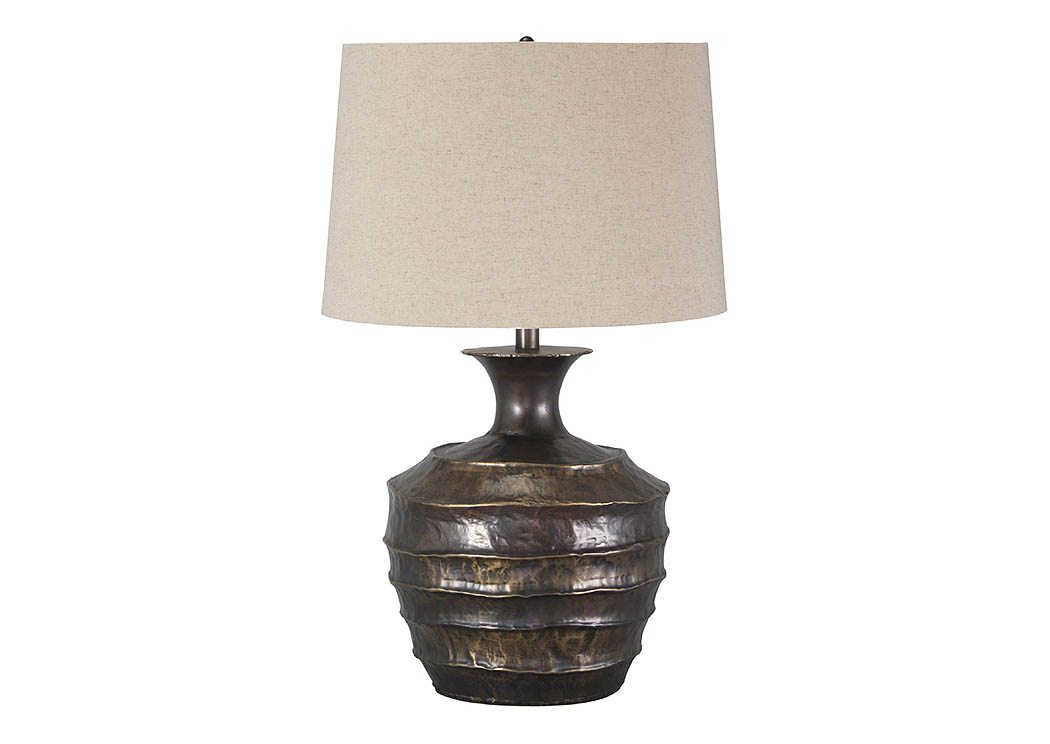 Kymani Antique Bronze Finish Metal Table Lamp,Signature Design By Ashley