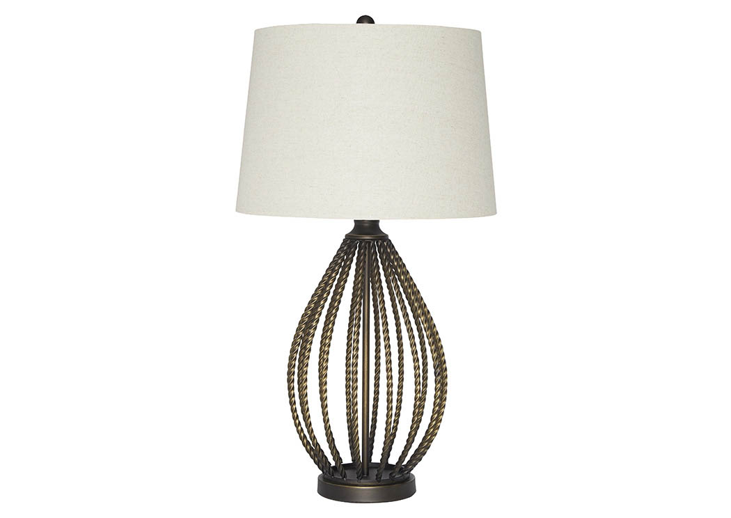 Darrius Bronze Finish Metal Table Lamp,Signature Design By Ashley