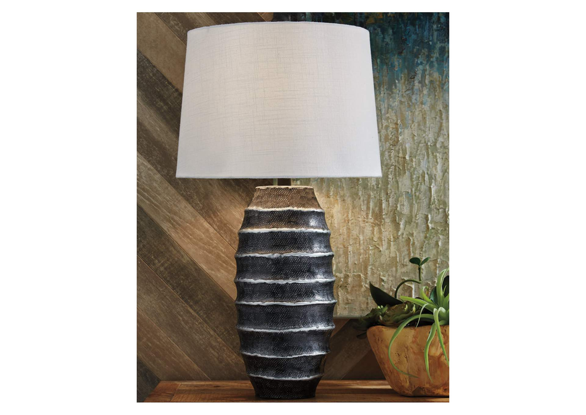 Billow Silver Table Lamp,Signature Design By Ashley