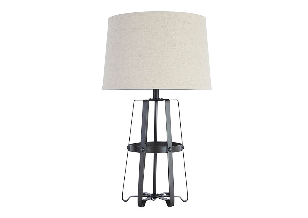 Antique Black Metal Table Lamp,Signature Design By Ashley