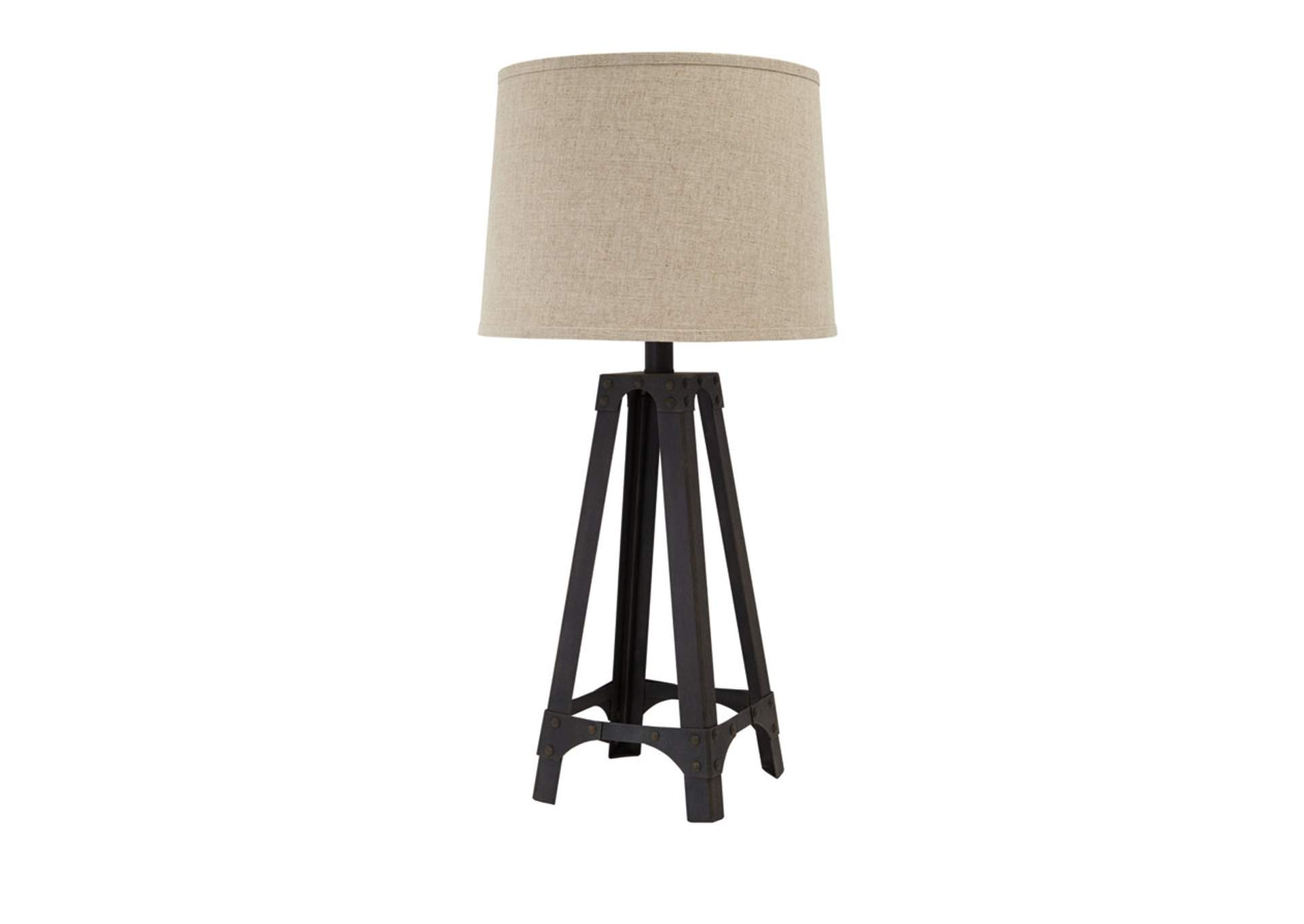 Brown Metal Table Lamp,Signature Design By Ashley