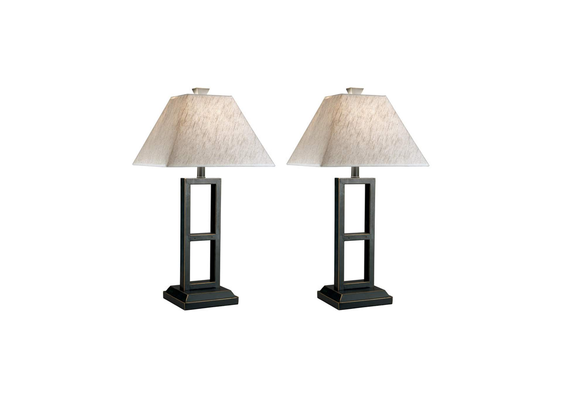 Deidra Black Metal Table Lamp (Set of 2),Signature Design By Ashley