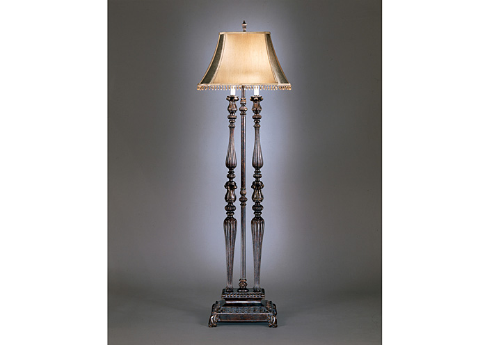 Dark Brown/Gold Desana Poly Floor Lamp,Signature Design By Ashley