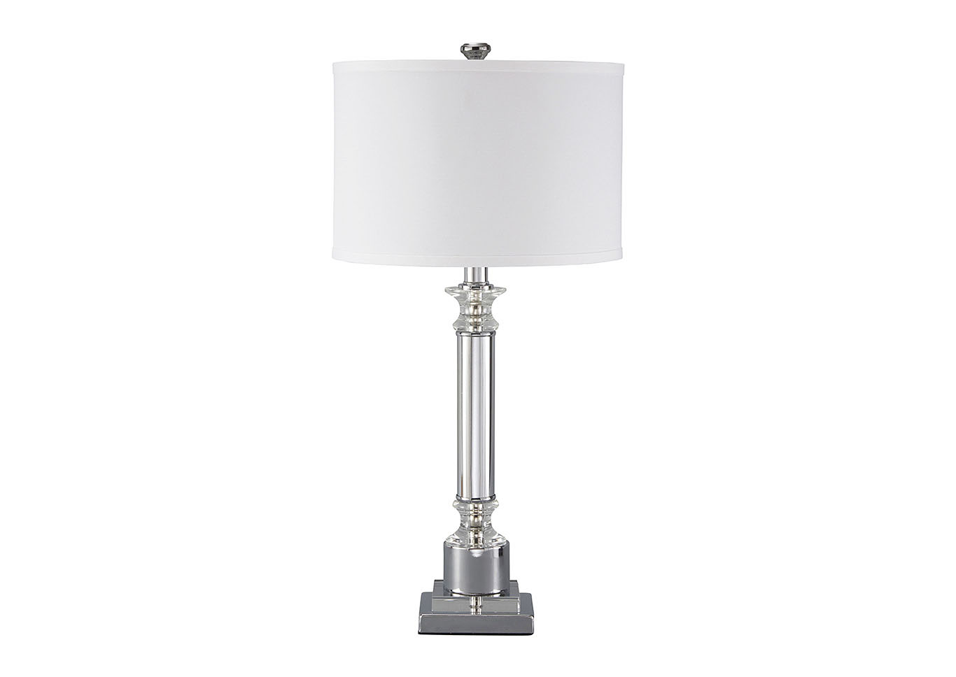 Marlon Clear/Silver Finish Metal Table Lamp,Signature Design By Ashley