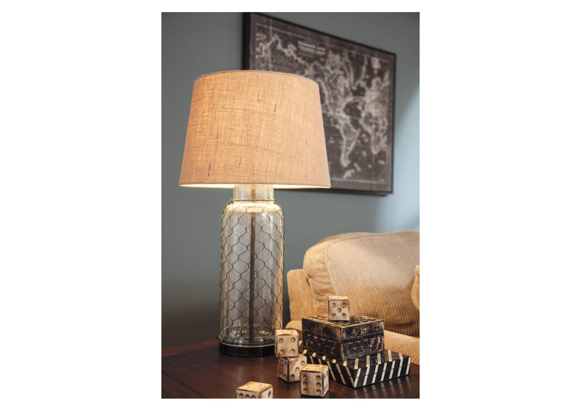 Transparent Glass Table Lamp,Signature Design By Ashley