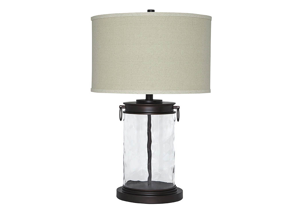 Tailynn Clear/Bronze Finish Glass Table Lamp,Signature Design By Ashley