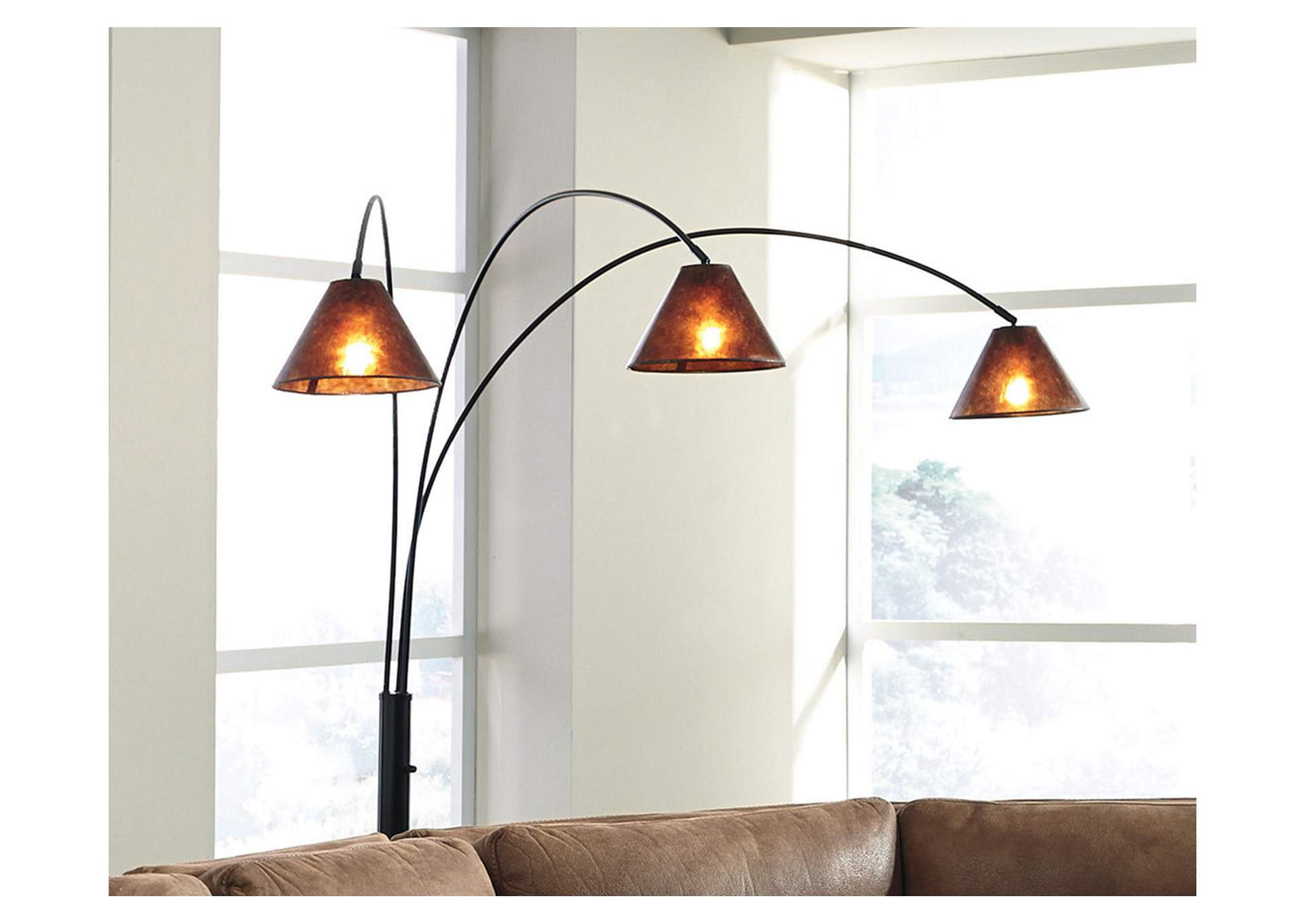 Sharde Metal Arc Lamp,Signature Design By Ashley