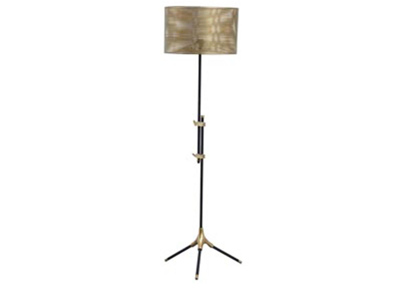 Mance Gray/Brass Metal Floor Lamp (1/CN),Signature Design By Ashley