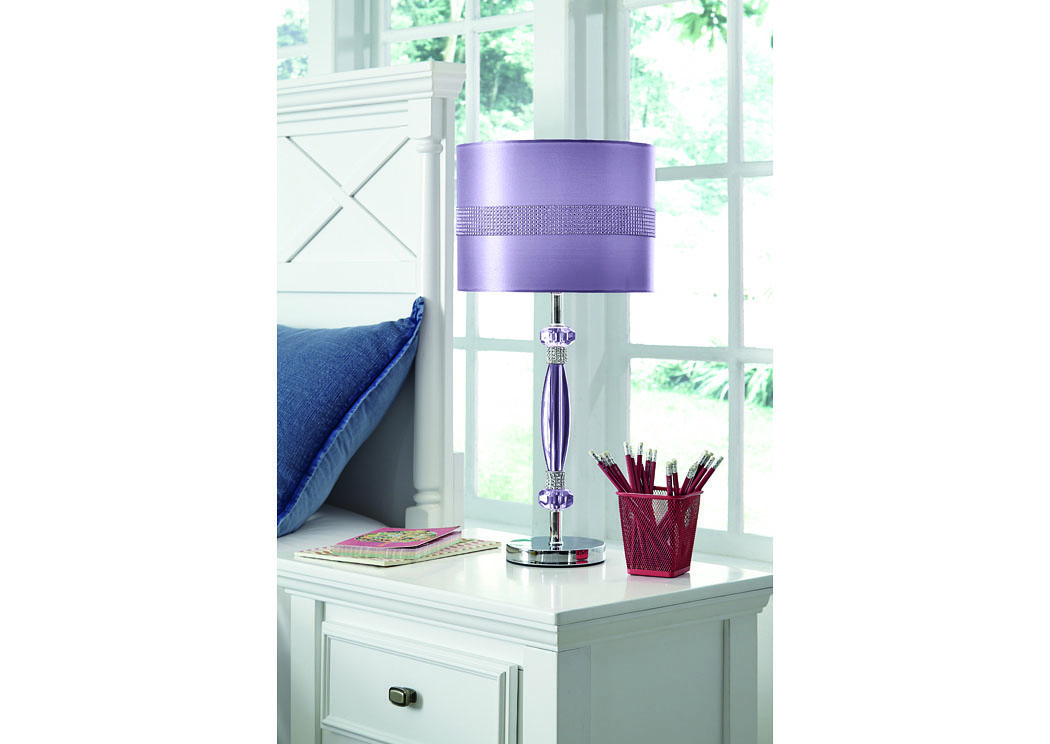 Purple Nyssa Metal Table Lamp,Signature Design By Ashley