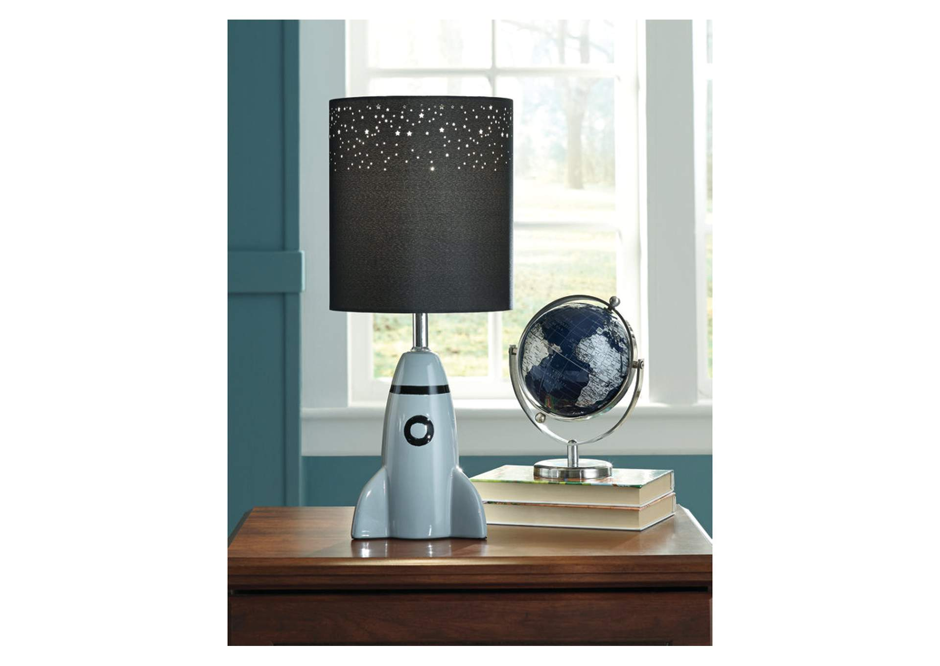 Cale Gray/Black Ceramic Table Lamp,Signature Design By Ashley