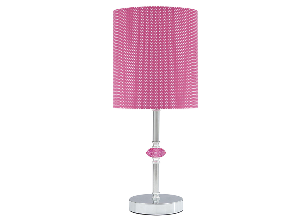 Sommerville Pink/Silver Finish Metal Table Lamp,Signature Design By Ashley