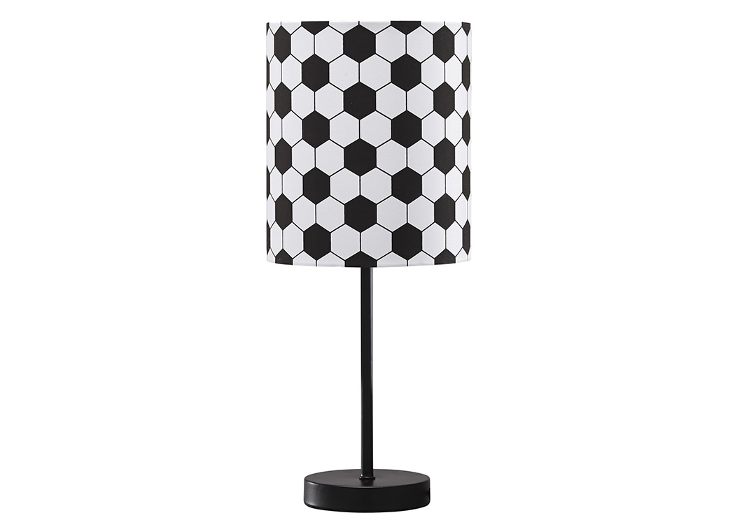 Lamar Black/White Metal Table Lamp,Signature Design By Ashley